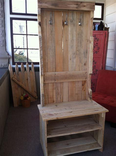 coat rack bench pallets pallet crafts wood pallet