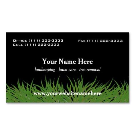 landscaping business card ideas 195 best images about lawn care business cards on