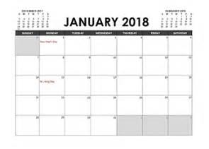 Kalender 2018 Excel Format 2018 Excel Calendar Template Free Printable