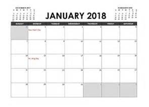 Calendar 2018 In Excel 2018 Excel Calendar Template Free Printable