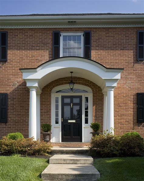 front entrance wall ideas philadelphia colonial front doors entry traditional with