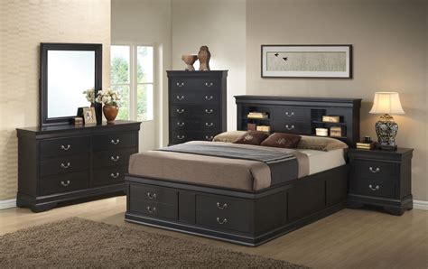 louis philippe bedroom set louis philippe black storage bedroom set from coaster 201079q coleman furniture