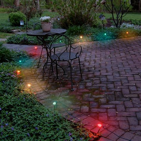 Electric Patio Lights Electric Pathway Lights Multi Color Traditional Outdoor Rope And String Lights By Jh