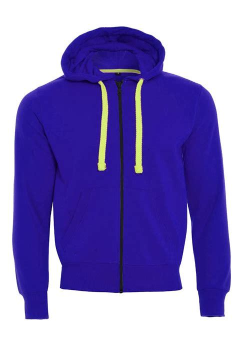 mens fleece zipper hooded hoodie casual zipup sweatshirt
