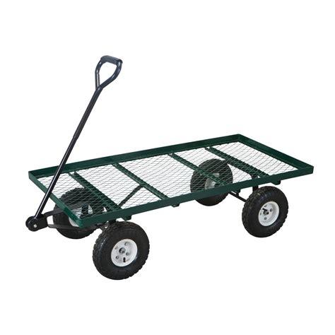 Harbor Freight Garden Cart by Mesh Deck Steel Wagon