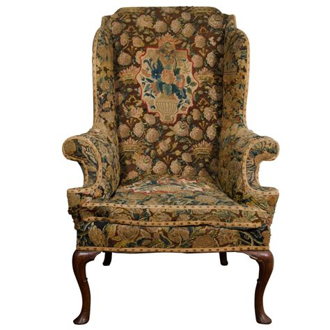 antique english wing chair at 1stdibs english queen anne walnut wing chair at 1stdibs