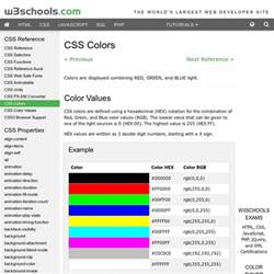 w3schools color css colors pearltrees