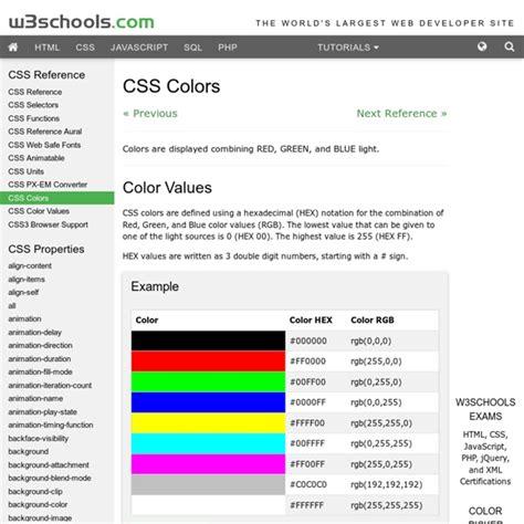 w3schools color picker w3schools color