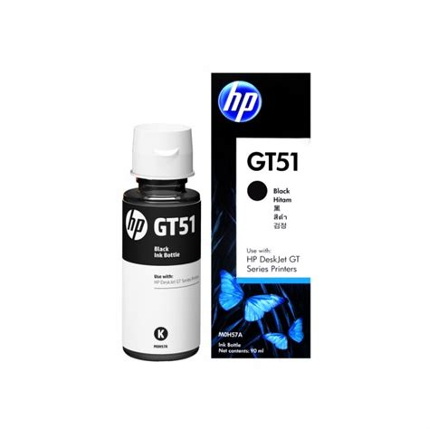 Tinta Printer Hp Refil Tinta Hp Original Gt51 Black M0h57a 90ml Tinta Refill