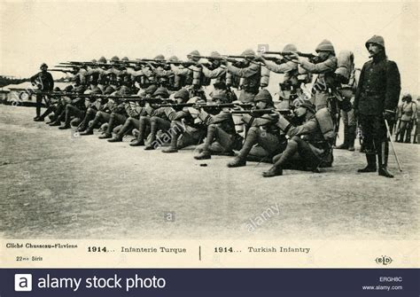 world war 1 ottoman world war 1 turkish infantry 1914 french postcard