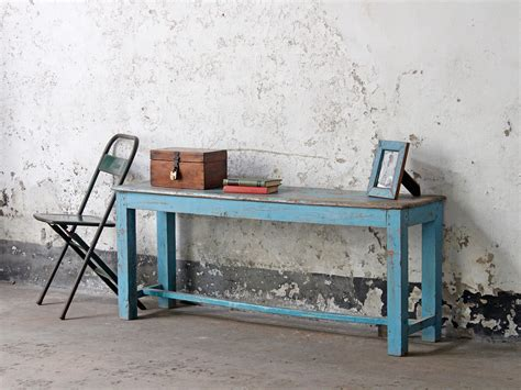 blue wood bench blue vintage wooden bench old chairs stools benches