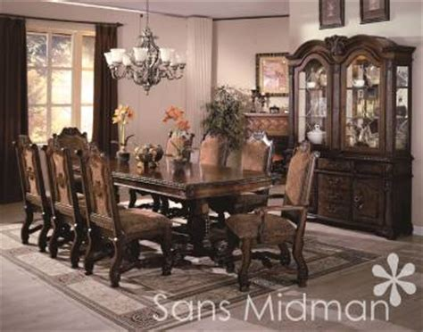 11 piece dining room set new furniture large formal 11 piece renae dining room set