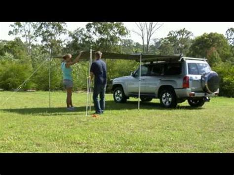 stand easy awning stand easy rv 4x4 awning youtube