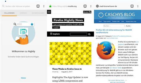layout für lebenslauf download firefox nightly f 195 188 r android zeigt neues design des browsers