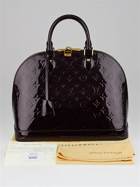 louis vuitton amarante monogram vernis alma mm bag yoogi