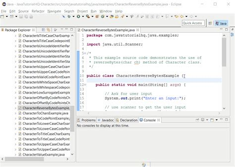 pattern java any character java character reversebytes char ch method exle