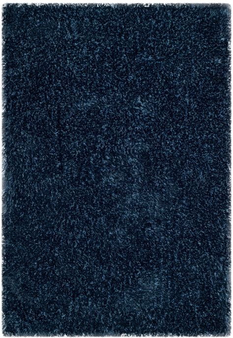 shag rugs toronto plush navy blue shag toronto collection safavieh