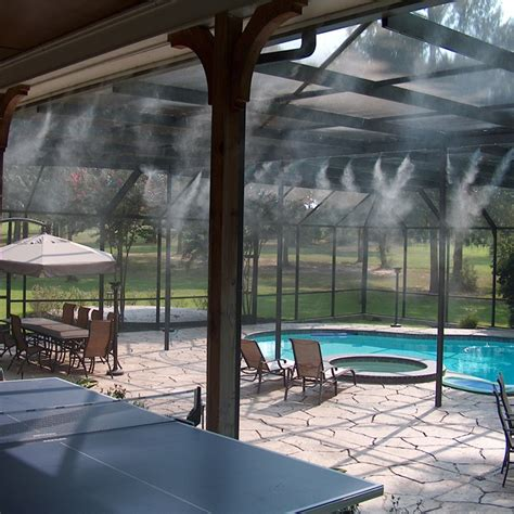 backyard misting system misting systems icool outdoor cooling solutions air