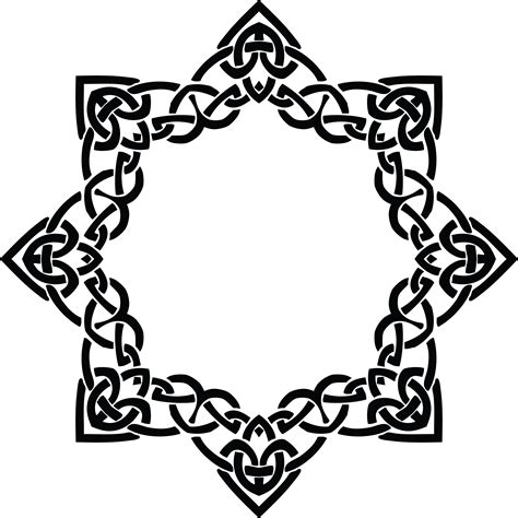 Celtic Wedding Knot Clipart by Free Clipart Of A Celtic Frame Border Design Element In