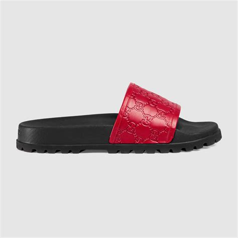 Sandal Slop Gucci Tagbox Gucci gucci signature slide sandal in black for lyst