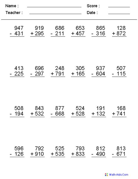 Maths 3 Digit Addition Worksheets by 5th Grade Division Worksheet New Calendar Template Site