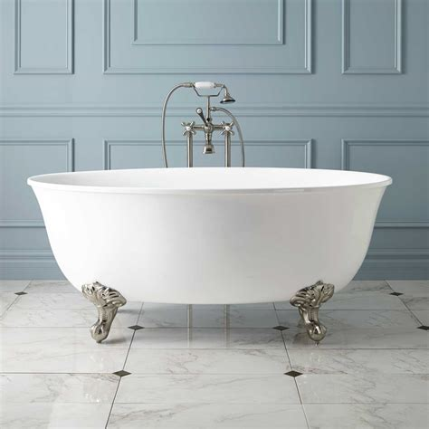 bathroom bathtub watters acrylic clawfoot tub imperial feet
