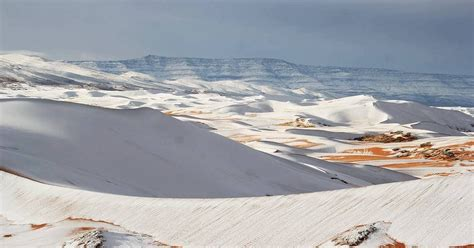 sahara snowfall rare snowfall in the sahara desert