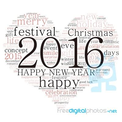 terms for new year quot happy new year 2016 quot cloud of words stock image