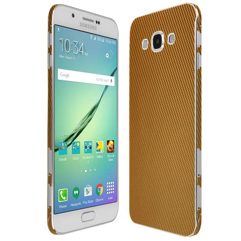 Samsung A8 Gold Skinomi Techskin Samsung Galaxy A8 Gold Carbon Fiber