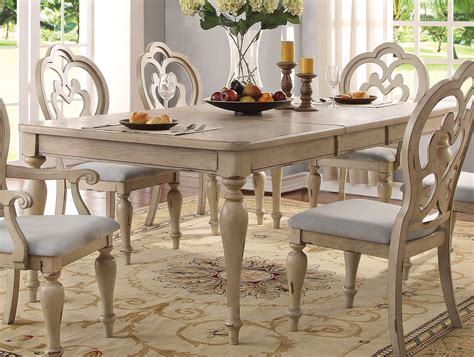 country dining table set white wood dining room table