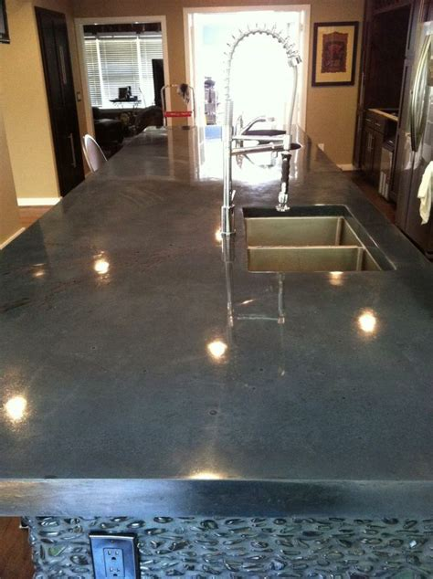 Polished Cement Countertop by Polished Concrete Countertops Bathroom Images