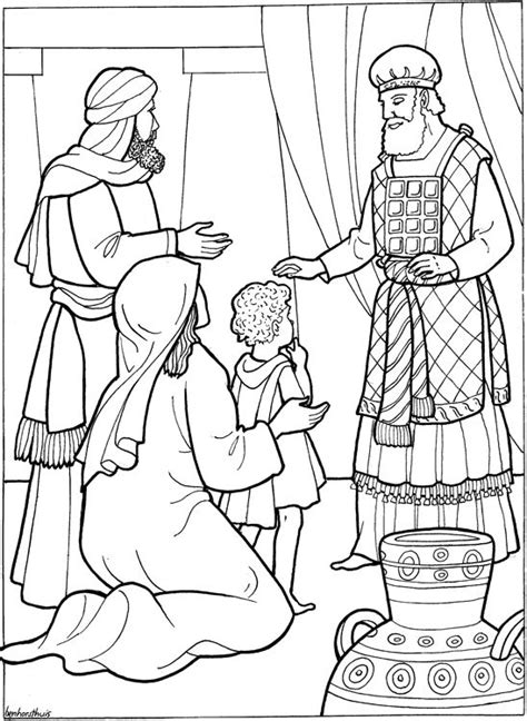 bible coloring pages hannah coloring home