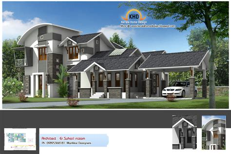 new home design home plan and elevation 2222 sq ft home appliance