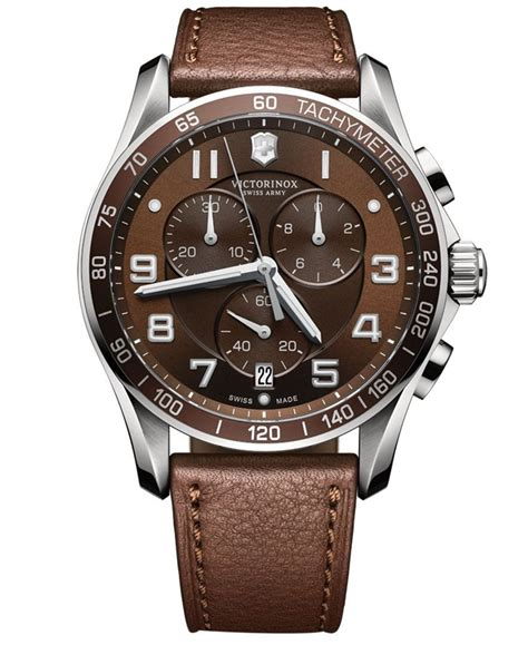 swiss army 0490 brown victorinox swiss army s chronograph classic xls brown