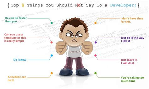 8 Things Not To Do On A Dinner by Top 8 Things You Should Not Say To A Developer