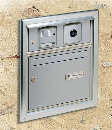 cassetta postale con citofono casellari postali