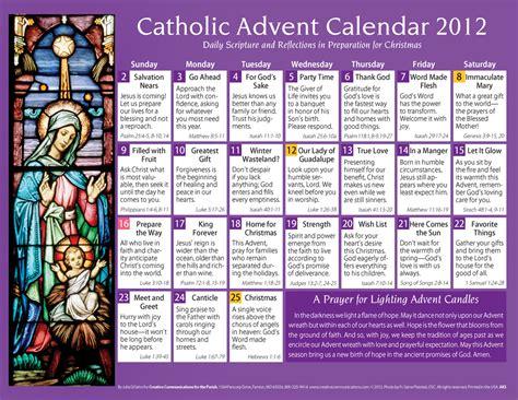 Catholic Saints Calendar Catholic 2012 Advent Calendar Holy Family Parish