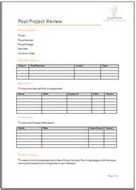 programme project tools project closure document templates