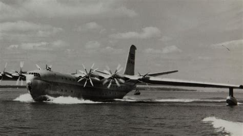 footage of maiden flight of rare saunders princess largest - Princess Flying Boat Video