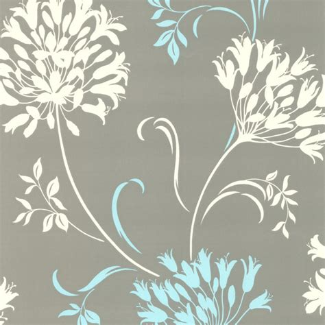 modern floral wallpaper nerida light gray floral silhouette wallpaper