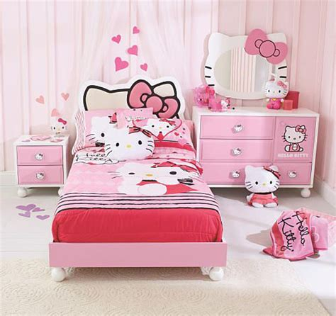 Hello Kitty Bedroom Set | 25 hello kitty bedroom theme designs home design and