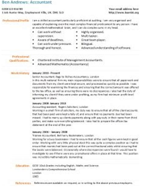 accounting cv template uk cv exles cleaner cv exles cv info