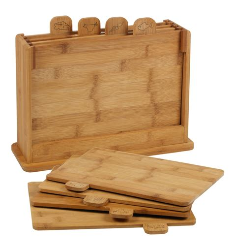 Kidsme Cutting Board 28 4pcs bamboo cutting board 117045