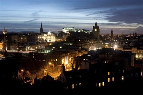 edinburgh nights cityscape of edinburgh at 6618 stockarch free