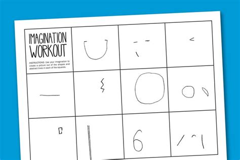 printable art test imagination workout free printable art worksheet