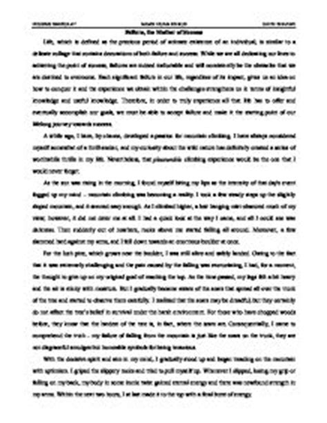 Personal Success Essay by Failure The Of Success I By Chance Developed A For Mountain Climbing I
