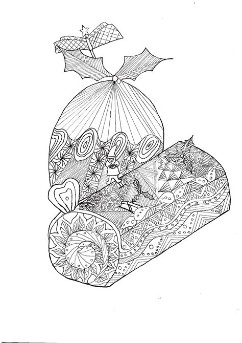 christmas zentangle coloring page coloring page zentangle log christmas christmas