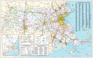 Map Massachusetts by Official Massachusetts Transportation Map Traffic