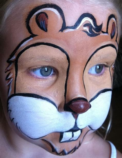 squirrel face paint design kasvomaalaus face painting