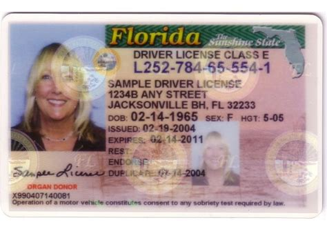 florida id card template photo 4 ids photo gallery